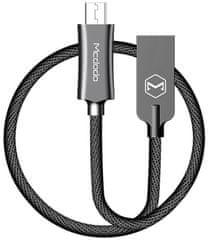 Mcdodo Knight Micro USB datový kabel, 2 m, černá, CA-4406