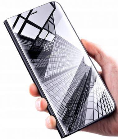 Onasi torbica Clear View za Samsung Galaxy A7 2018 A750, črna