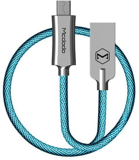 Mcdodo Knight Micro USB datový kabel, 2 m, modrá, CA-4407