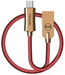 Mcdodo Knight Micro USB datový kabel, 2 m, červená, CA-4408