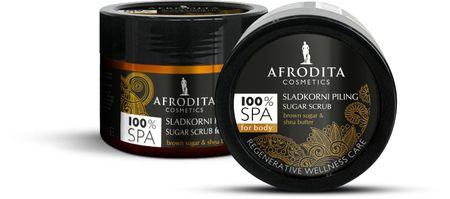 Kozmetika Afrodita Slatki piling 100% Spa Natural, 175g