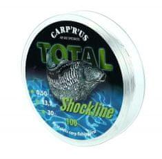 Carp ´R´ Us Šokový Vlasec Total Shock Line 100 m Hnědá