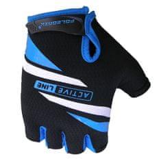 POLEDNIK Cyklistické rukavice Active - modré