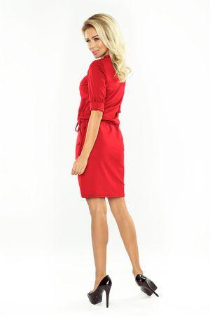 Numoco Női ruha 161-11 + Nőin zokni Gatta Calzino Strech, piros, L