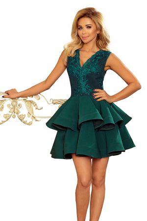 Numoco Sukienka damska 200-6 + Skarpetki Gatta Calzino Strech, zielony, S
