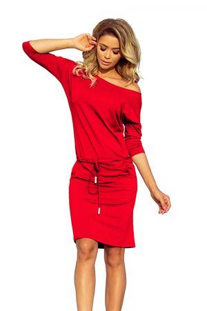 Numoco Női ruha 13-96 + Nőin zokni Sophia 2pack visone, piros, XXL