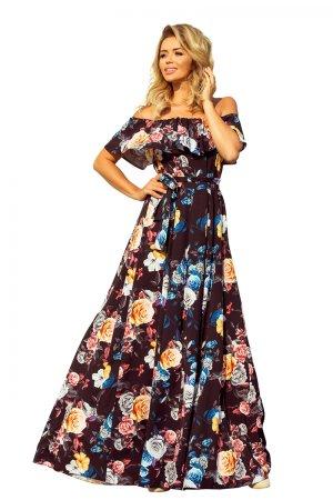 Numoco Sukienka damska 194-3, wielo barwny, XL