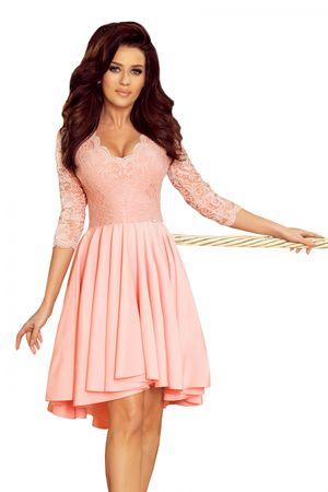 Numoco Női ruha 210-7, púder rózsaszín, XXL
