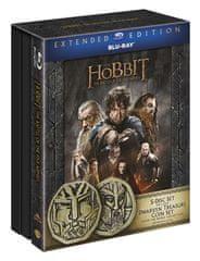 Hobit: Bitva pěti armád - prodloužená verze 3D+2D (5 disků) Edice s mincemi - Blu-ray