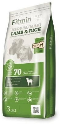 Fitmin hrana za pse Dog medium maxi lamb&rice, 3 kg