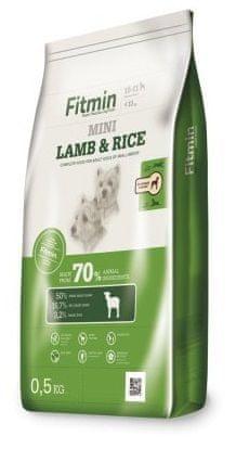 Fitmin hrana za pse Dog mini lamb&rice, 0,5 kg