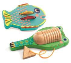 Djeco Sada hudebních nástrojů - Kastaněty, činely rybička a guiro