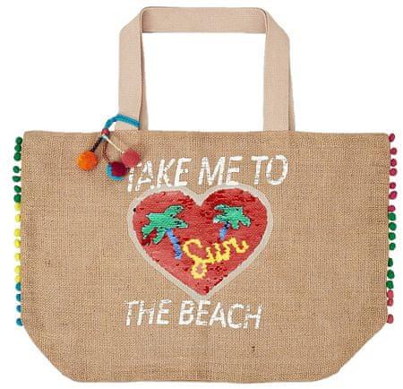 s.Oliver dámská béžová plážová taška