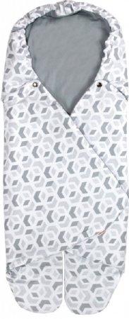Emitex otroška spalna vreča BEA, 3D kocke, siva