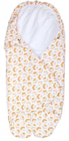Emitex otroška spalna vreča BEA, 3D kocke, rjava