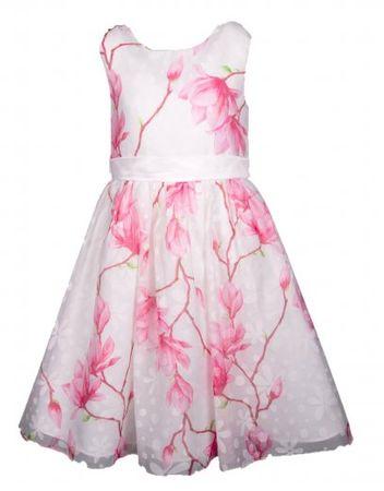Happy Girls dievčenské šaty 86 biele/ružové