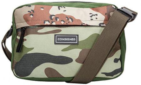 CONSIGNED pánská zelená crossbody taška