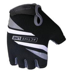 POLEDNIK Cyklistické rukavice Active - šedé