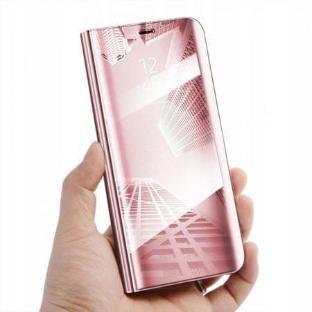 Onasi ovitek Clear View za Samsung Galaxy A50 A505, roza