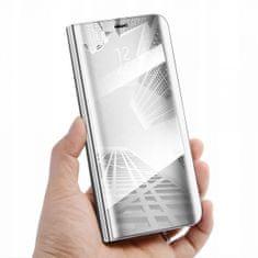 Onasi ovitek Clear View za Samsung Galaxy A7 2018 A750, srebrn