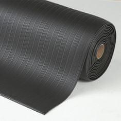 Černá protiúnavová průmyslová rohož Airug - 0,94 cm