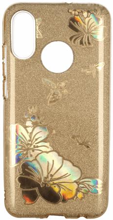 Ovitek Bling za Samsung Galaxy A7 2018 A750, silikonski, zlat z bleščicami