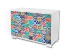 Dimex Nálepky na nábytok - Farebná mozaika, 85 x 125 cm