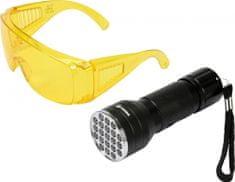 Vorel Sada detekčnej UV svietidla s ochrannými okuliarmi