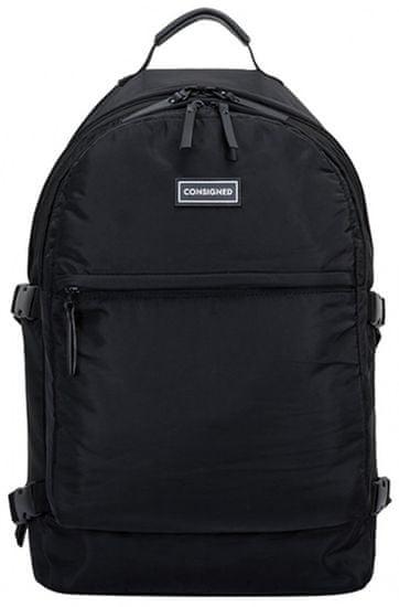 CONSIGNED pánský černý batoh