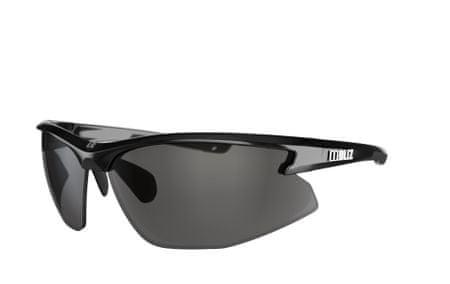 Bliz okulary sportowe Motion+ - Shiny Black - Smoke w Silver Mirror