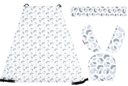 Emitex Napellenző + párnázás szett + fogantyú 3D kocka szürke