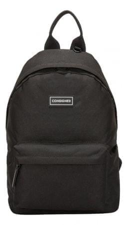 CONSIGNED pánský černý batoh 50229