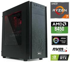 MEGA namizni računalnik 6000X Ryzen 7 2700/16GB/SSD500GB+2TB/RTX2060/FreeDOS (PC-G6271X-A)