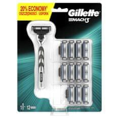 Gillette Mach3 Holiaci Strojček + 11 holiacich hlavíc