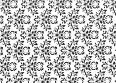 Patifix Samolepiaca fólia dekoratívna 15-6320 ČIERNOBIELY ORNAMENT - šírka 45 cm