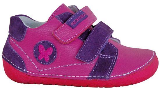 Protetika dívčí barefoot boty Valery 20 růžová