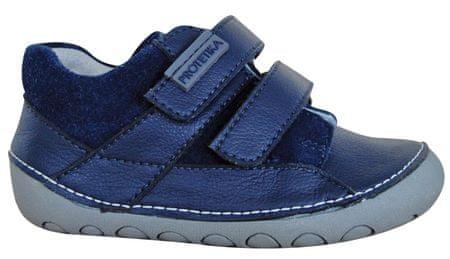 Protetika chlapčenské barefoot topánky Ned 24 modré