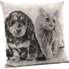 KARE Polštář Little Cat and Dog 45x45cm