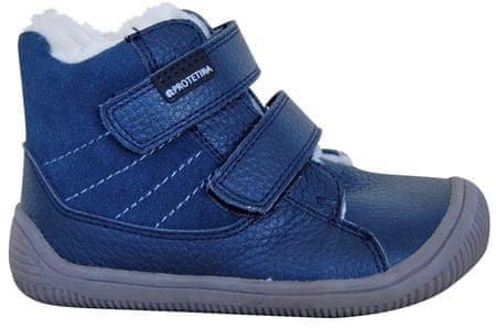 Protetika chlapčenské zimné barefoot topánky Kabi 23 modré