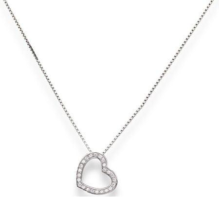 Amen Ezüst nyaklánc cirkónium kővel Love CLHE2 ezüst 925/1000