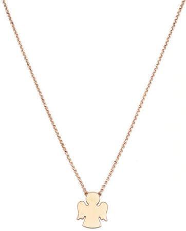 Amen Różowe złocone Srebrny naszyjnik Angels CLAR3 srebro 925/1000