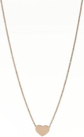 Amen Różowe złocone Srebrny Módl się naszyjnik Love CLHR3 srebro 925/1000