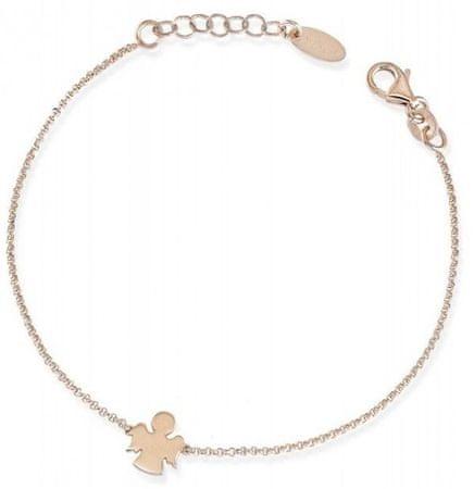 Amen Rózsaszín aranyozott ezüst karkötő BRAR3 ezüst 925/1000