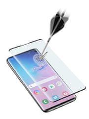 CellularLine zaštitno staklo za Samsung Galaxy S10, (Sonic senzor), crno