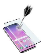 CellularLine zaštitno staklo za Samsung Galaxy S10 Plus, 3D Sonic Senzor, crno
