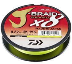 Daiwa Splietaná Šnúra J-Braid 8 Grand Žltá 135 m