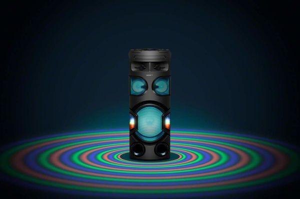 sony mhc-v72d parti hangszóró karaoke fiestable hangvezérlés gitárjack hangszóróállványba rögzíthető fényhatások taiko mód