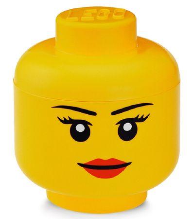LEGO Tárolófej (S méret) - lány