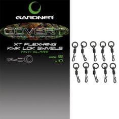 Gardner Obratlíky Covert XT Flexi-Ring Kwik Lok Swivels 10 ks