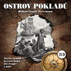 Stevenson Robert Louis: Ostrov pokladů (2x CD) - CD